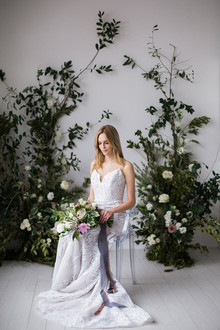 Floral bridal portrait