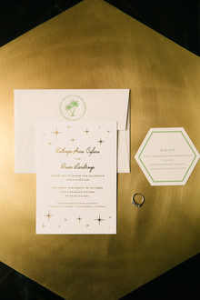 Mid-century wedding invitations