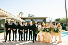 Gold wedding party