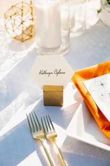 Geometric place card