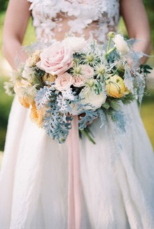 Spring bridal bouquet