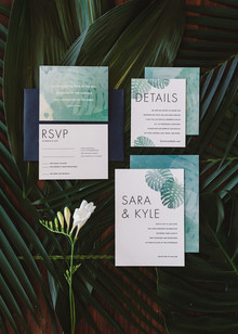 Modern tropical invitations