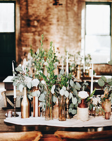Bohemian wedding in a warehouse