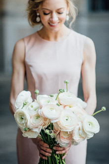 Spring blush bouquet