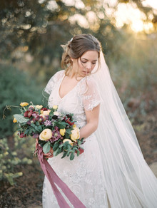 Gossamer wedding dress