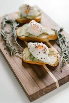 poached eggs on toast for brunch