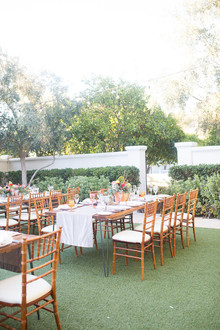Desert wedding reception