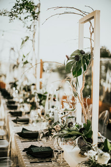 White and black tablescape
