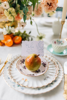 Tea party place setting