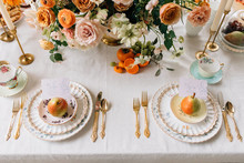 Tea party inspired place setting