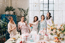 Vintage bachelorette tea party inspiration