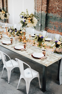 Industrial modern tablescape