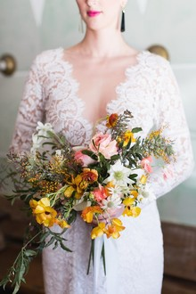 Wildflower bridal bouquet