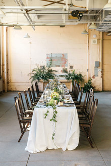 Industrial tablescape