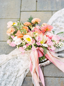 Spring boho wedding bouquet