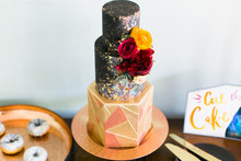 cosmos wedding cake