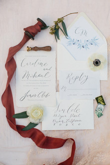 Calligraphy invitations