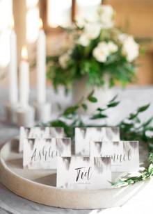 Modern place cards
