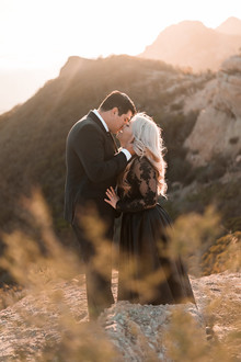 Mountaintop engagement portrait