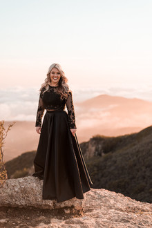 Black engagement dress