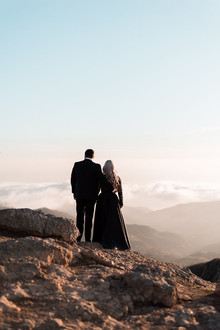 Mountaintop Malibu sunset engagement shoot