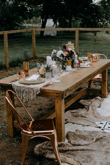 Boho tablescape