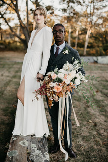At home elopement inspiration in Maine