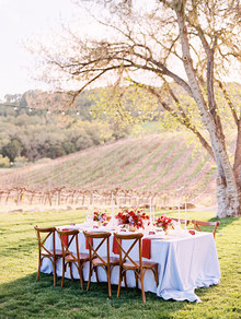 Red tablescape