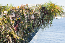 Sailboat floral installation