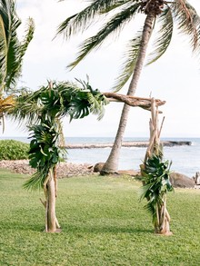 Tropical ceremony altar
