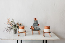 Copper cake table