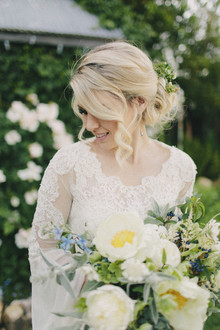 Romantic wedding hairstyle