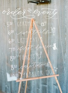 acrylic wedding sign