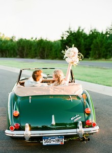 vintage wedding car portraits