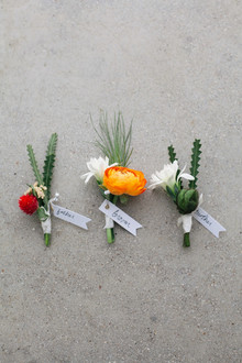 orange boutonnière