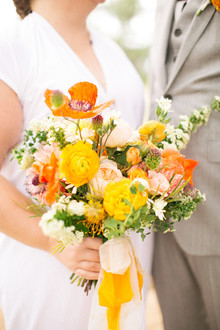 poppy bridal bouquet