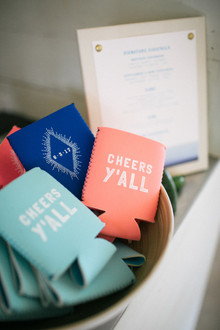 beer cozy wedding favors