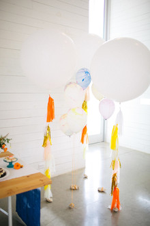 colorful tassel balloons