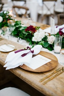 Wood place setting