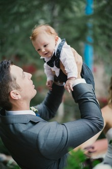 Groom with his son