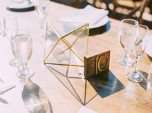 Brass table number