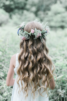 flower girl flower crown hairstyle