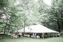wedding tent in the woods