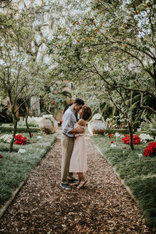 Bok Tower Garden engagement shoot