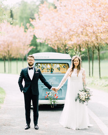 VW van for wedding photos