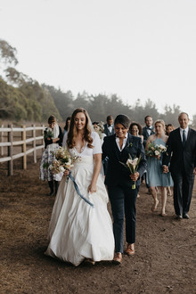 Big Sur Wedding parade