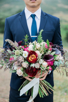 Gorgeous fall tree peony bouquet