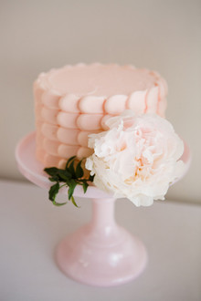 blush birthday cake