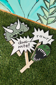 dinosaur Photo Booth props