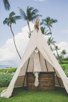 wedding teepee in maui